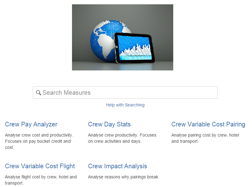 Crew Analytics Search Measure Page