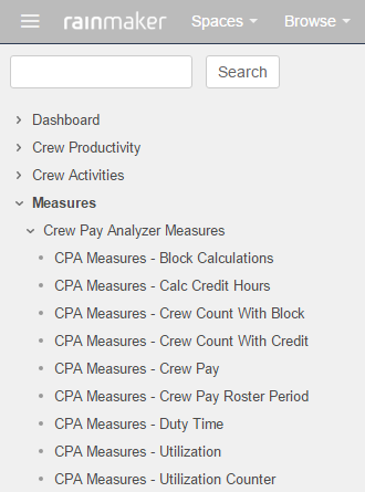 Crew Analytics User Guide Navigation